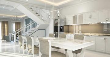 Möbel einer offenen Küche